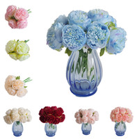 9Color European Style 5 Heads Peonies Hand Tied Peony Bridal...