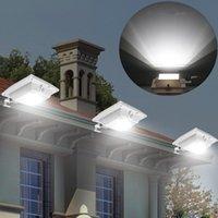 Solar Super Brilhante PIR Sensor de Movimento À Prova D 'Água Sem Fio Luz de Segurança Lâmpada Para Jardim Ao Ar Livre Quintal Da Parede Deck Auto On / Off Dusk to Dawn