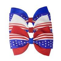 3 cores da bandeira americana clipe Barrettes bowknot Cabelo Independence Day Grampos Decoração 4 de julho crianças Acessórios para Cabelo