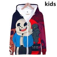 3 bis 14 Jahre KinderHoodies Undertale Sans 3D Printed Hoodie Jungen-Mädchen-Karikatur Street-Jacken-Mantel-Kind-Kleidung