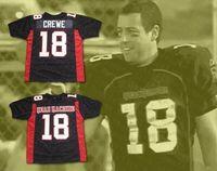 Hombres Paul Crewe 18 Yard Máquina media más larga Jersey Jersey Película de fútbol Uniformes Pedido de tamaño negro Tamaño negro Pedido S-3XL