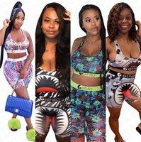 2020 Tasarımcı Kadınlar Mayo Bikini Mayo Çiçek baskı Mayo Spor Bra + Swim Tozluklar Pantolon Kıyafetler Beachwear Eşofman D63003