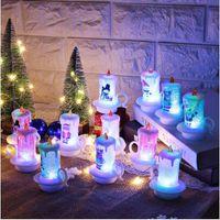 ثلج حزب PVC الخفقان لطيف LED الإلكترونية الجدول عيد الميلاد ضوء الشموع ليلة بطارية تعمل بالطاقة عديمة اللهب الديكور