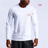NOVA 2019 primavera outono longa manga sólida estiramento Esporte jogging correndo pro ginásio quick dry camiseta homens