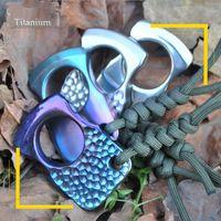 Neue EDC Werkzeuge Titanlegierung Single Finger Duster Selbstverteidigung Werkzeuge BrokenWindow Notausgangs Knuckles Keychain Kostenloser Versand