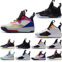 Tasarımcı Mens Eğitmenler Jumpman XXXIII 33 Gelecek Origins Tech Pac Basketbol Ayakkabı En kaliteli Erkekler Koşu için 33 s Sneaker Boyutu ABD 7-13