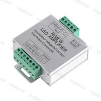 Dimmerler Amplifikatör RGBW DC12-24V Giriş 24A 4 Kanal Çıkış Aydınlatma Aksesuarları için 5050 3528 Strip Bant LED Kontrol Cihazı DHL