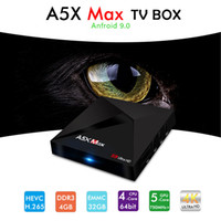 Android Tv Box A5X Max Core Quad 4G 32G Android 9. 0 Rockchip...