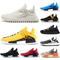 2019 Yeni Ucuz Lüks İnsan Yarışı NMD Koşuyoruz Ayakkabı Erkekler Kadınlar Güneş Paketi Siyah Sarı PW HU HOLI Pharrell Williams Tasarımcı Spor Sneakers