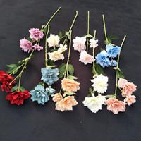 3頭シミュレーション花DIYマニュアルナルシス牡丹デスクトップ飾り造花ファッションアレンジメント熱い販売2 5 IL J1