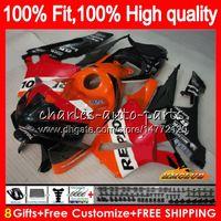 Injeção laranja Repsol molde para Honda CBR600RR CBR600 RR 2005 2006 80HC.122 CBR600F5 CBR 600RR 600F5 05 06 CBR 600 RR F5 05 06 Fairing OEM