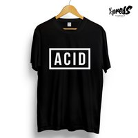 ACID BLOCK GRAPHIC PRINTED T- SHIRT 808 303 TECHNO HOUSE BLAC...