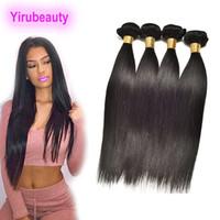 Extensions de cheveux vierges indiennes 4 ou 5 paquets à ondes corporelles EXTENDONS DE CHEVEUX HUMUMES HISTOIRE 3 BULDLES DOUBLES WEFTS 8-30INCH Couleur naturelle