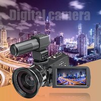 Cámara digital WIFI P13 4K 2160P HD 48MP 16X Zoom Webcam + DV Bag + MIC + Luz de relleno + Juego de lentes gran angular Videocámaras