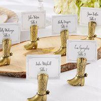 Cowboy Boot Place Titular de la tarjeta Nupcial Ducha Decoración Del Partido Favores Titulares de la Tarjeta de Boda Regalo de boda