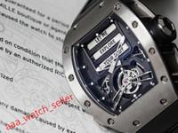 3 couleurs haute qualité Hommes Montre de luxe pour hommes RM69 Tourbillon érotique SS316L Watchcase Miyota Mouvement automatique Mouvement automatique Bracelet de bracelet en caoutchouc