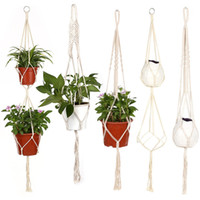 Hanging Plant Hanger Rope Flower Pot Basket Handmade Cotton ...