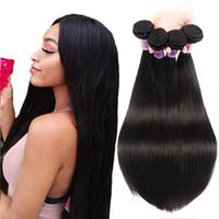 8A Brezilyalı Virgin İnsan Saç Demetleri Uzantıları Düz 50g Doğal Siyah