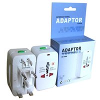 All in One Universal International Plug Adapter World Travel caricatore di corrente alternata adattatore Con AU Stati Uniti Regno Unito UE 4 in 1 Converter Plug Adapter