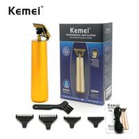 Kemei KM-1978B Elektrikli Saç Kesme Altın Profesyonel Clippers Sakal Düzeltici Perakende Paketi ile Şarj Edilebilir Kablosuz Düzelticiler