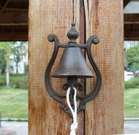 Cast Iron WELCOME Dinner Bell Simple Wall Mount Metal Door B...