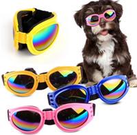 Очки для собак Модные складные солнцезащитные очки Средние Большие Очки для собак Big Pet Водонепроницаемые защитные очки Защитные очки УФ-очки 6 цветов