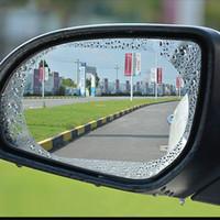 60шт 0.12 мм анти туман автомобиль зеркало окно прозрачная пленка анти дождь автомобиль зеркало заднего вида защитная пленка водонепроницаемый непромокаемый автомобиль наклейка