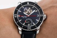 JB fábrica CINCUENTA brazas 5025-1530-52 reloj Tourbillon de lujo del reloj de pulsera para hombre de acero inoxidable de zafiro resistente al agua automático mecánico