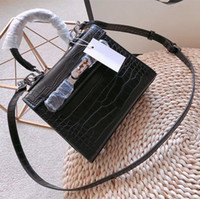 Classic Women Polished Leather Handbags Metallic Lock Ladies...