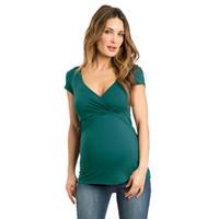 Telotuny الملابس fot أنثى 100٪ ٪ المرأة الصلبة الحوامل التمريض الطفل للأمومة متعددة الوظائف بلوزة تي شيرت Jl 05 Y19052003