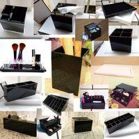 Klassieke acryl make-up desktop spiegel make-up tools make-up box cosmetische houder voor bruiloft beste cadeau