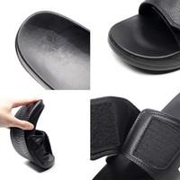 EPHER Custom Logo Einstellbare Slide Sandalen Einstellbare Flip Flop Sandalen Slip auf Post Sport-Folien
