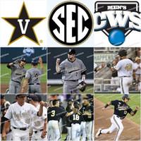 Homens Vanderbilt Commodores Performance Jersey Programa de Ouro Mulheres / Juventude All Stitched Branco Preto Alta Qualidade Baseball Camisas