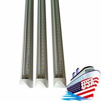 Tubi a forma di refrigeratore a V Tubi a LED T8 Integrated Led Tubelle Bulb Bulb Doppio lati SMD2835 LED Sostituzione luci fluorescenti
