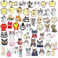 Hot Cartoon mignon Broche émail animal chat Epingle décoratif Bijoux style Broches pour les femmes cadeau