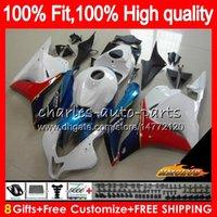 Pour injection CBR HONDA blanc brillant 600 RR 600CC 2009 2010 2011 2012 74NO.77 CBR600 RR CBR 600RR 600F5 CBR600RR F5 09 10 11 12 OEM Carénage