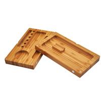 220 * 120mm 자기 담배 운영 기계를 압연 기계 담배 롤링 테이블 담배 케이스 이중 보드 나무 트레이 사용 무료 FR