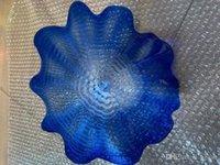الأزرق الملونة الزخرفية لوحة من الزجاج في مهب مهب لوحات زجاجية للحائط ديكور أناقة الزجاج حرفة جدار الثريا