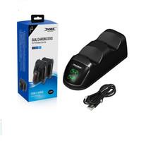 DOBE Çift PS4 Slim Pro Kablosuz Denetleyicisi Için Dock Şarj Docking İstasyonu USB Çift Şarj Dock TP4-889 20 adet / grup