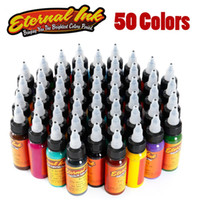 50pcs / 50colors / trucco Lot inchiostro del tatuaggio Set Microblading permanente d'arte pigmento della vernice 30ml Tattoo per sopracciglio del Eyeliner Lip Total Body
