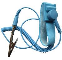 Новый антистатический антистатический ОУР регулируемый ремешок группа заземления электростатический ремень синий
