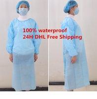 Hızlı DHL Kargo! Koruma Önlük Tek Koruyucu Giyim İzolasyon Elbise toz geçirmez Tulum Kadın Erkek Anti-sis Anti-parçacık Isolati