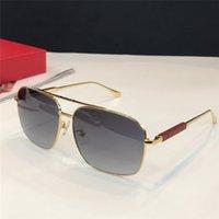 b50d8d427c Wholesale wood sunglasses for sale - New Luxury Men Designer Sunglasses  Metal Simple Atmosphere Glasses Handmade