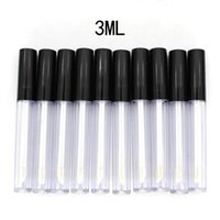 50pcs nos Stock / lot 3 ml Plástico Lip Gloss pequeno tubo batom Tubo com Amostra Leakproof Inner Cosmetic Container DIY