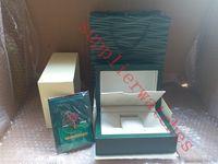 Супер Качество Топ Роскошные Часы Марка Зеленый Оригинальная коробка Документы Мужские Подарочные Часы Коробки Кожаная сумка Карты 0.8 КГ Для Rolex Коробка Для Часов С Сумкой
