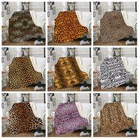 Leopard Impresso Grande Cobertores 3D Impressão Digital Double Deck Grosso Blanket Car Escritório Sofá Inverno Fashion Style 70qla H1