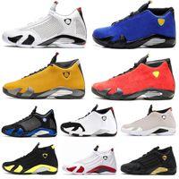 14 14s14 14s баскетбольные кроссовки для мужчин Мода определяющие моменты черный носок конфеты тростника гром Мужские дизайнерские кроссовки