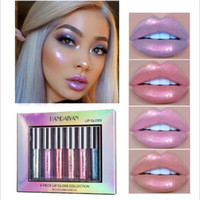 6 Colore / Set Liquid Lipgloss Glitter Lipstick Sexy Pigmento Impermeabile Pigmento Shimmer Lip Gloss Tint Mermaid Trucco Cosmetico Ki