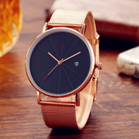 New Simple Male And Female Calendar Unisex Watch Man And Wom...