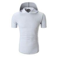 Solide Short Sleeve Breathable Designer Shirts 2019-Sommer-neue mit Kapuze Großer Herren T-Shirt Belieben Gelegenheits